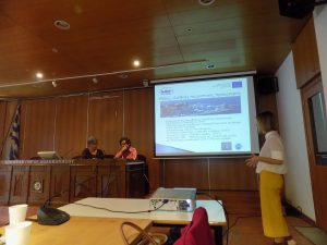 Presentation by the Municipality of Rhodes during held at the seminar at the Chamber of Commerce and Industry of Dodecanese.